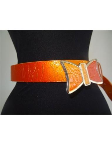 Curea dama portocalie cu catarama...
