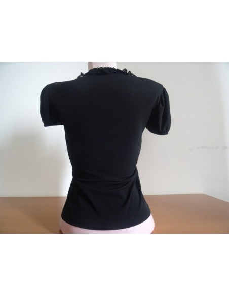 Bluza neagra cu fundita