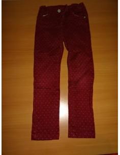 Pantaloni rosii casual cu buline fetite