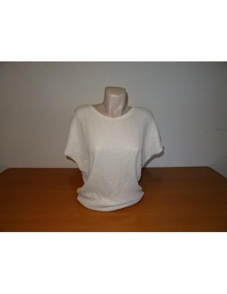 Bluza alba tricotata
