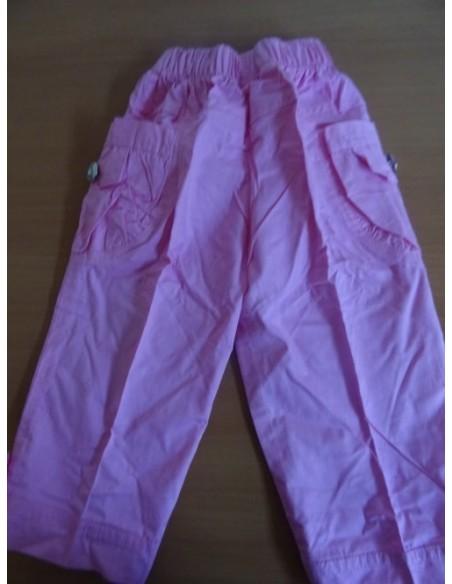 Pantaloni roz cu buzunare