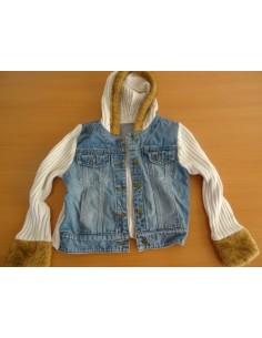 Jacheta lana si jeans