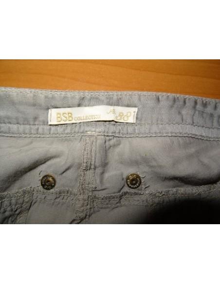 Pantaloni BSB gri cu buzunare la spate