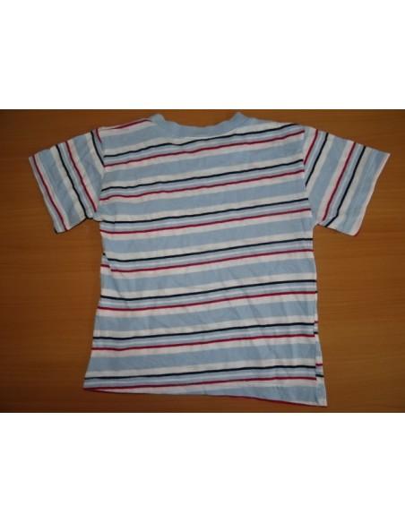 Tricou cu dungi multicolore