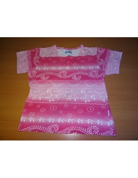 Tricou  cu doua nuante de roz