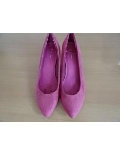 Pantofi roz exterior catifea