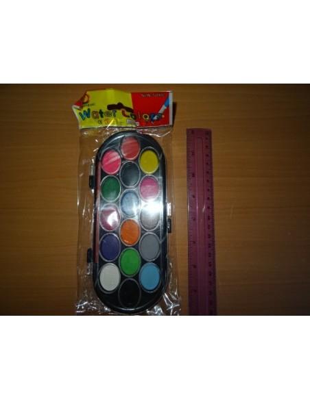 Set 14 acuarele si o pensula Water Colors non toxic
