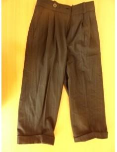 Pantaloni eleganti negri cu dungulite