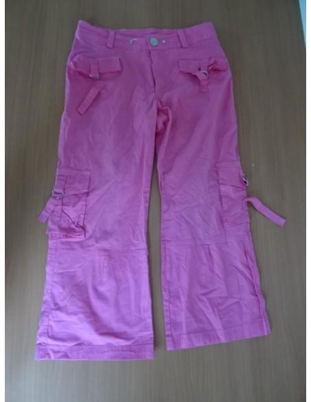 Pantaloni trei sferturi roz dama DINAIX