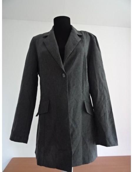 Palton dama gri cu un nasture