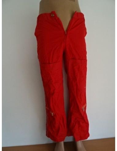 Pantaloni rosii dama cu buzunare