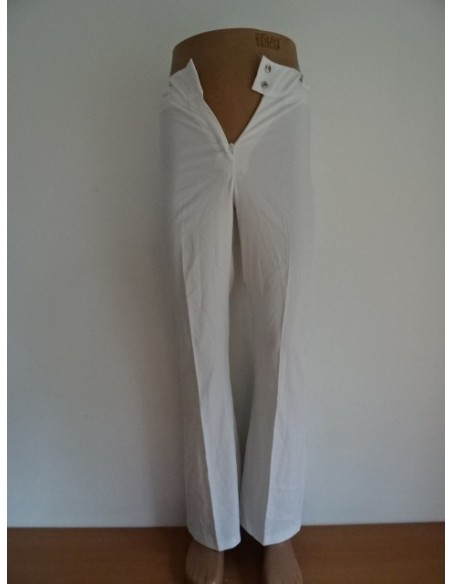 Pantaloni albi dama skinny Alia