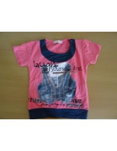 Tricou roz fetite Biricik Kids Club