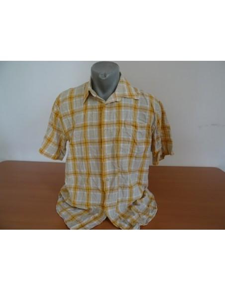 Camasa in carouri cu nuante de galben