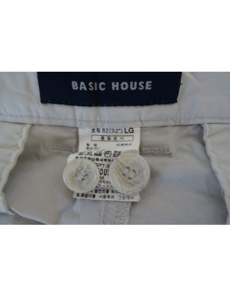 Pantaloni albi BASIC HOUSE