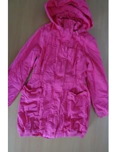 Jacheta roz , lunga si cu gluga