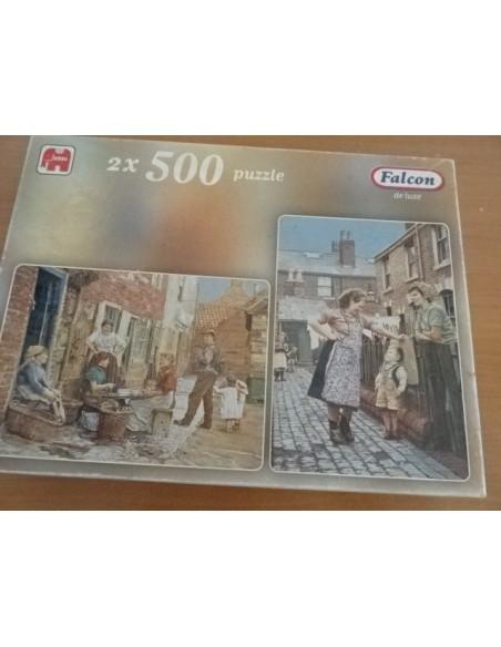 Puzzle dublu Falcon de luxe 500 piese