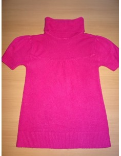 Pulover roz cu maneca scurta