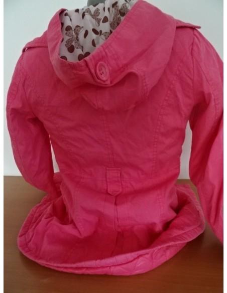 Jacheta fetite roz cu gluga Ban Na