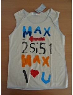 Maieu crem cu imprimeu Max