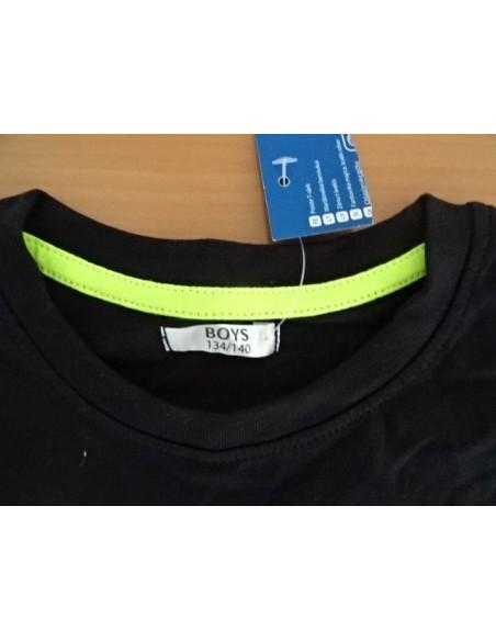 Tricou negru baieti ,marimile 134/140 si