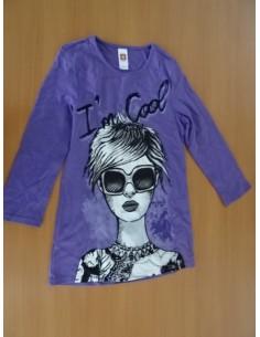 Bluza C&A mov cu imprimeu
