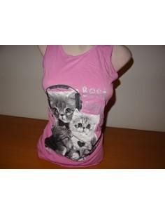 Tricou dama fara maneci roz C&A