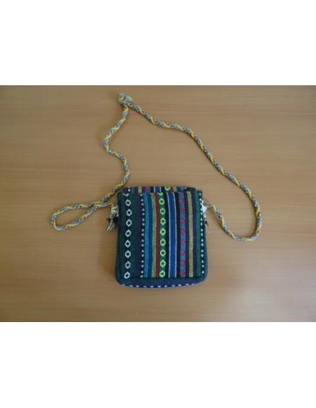 Geanta handmade, multicolora