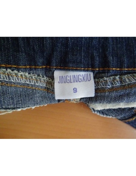 Fustita jeans cu volan