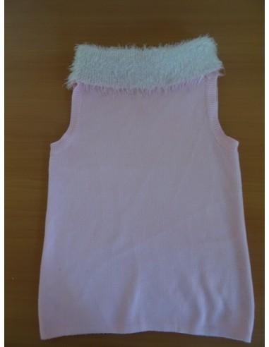 Maieu roz cu fulgy alb