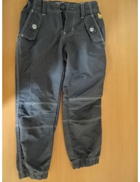 Pantaloni negri cu elastic jos
