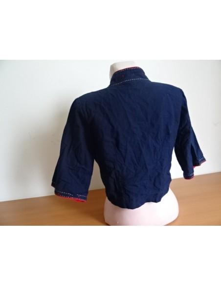 Cardigan scurt cu motive traditionale